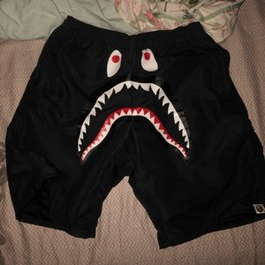 "Bape ""Shark Beach"" Shorts (Size M)"